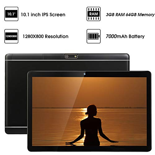 Tablets 10 Pulgadas Skyiol Android 8.0 3GB RAM 32GB ROM Tablet con 4G Dual SIM 8.0 MP Cámara Quad Core Batería de 7000mAh WiFi, Bluetooth, GPS, Netflix