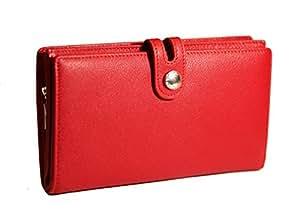Compagnon cuir femme portefeuille porte ch quier porte carte porte monnaie couleur - Portefeuille femme porte chequier ...