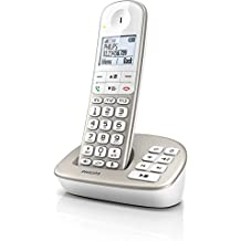 Philips XL4951S/FR DECT telephone Caller ID Silver,White telephone - telephones (DECT telephone, Speakerphone, 50 entries, Caller ID, Silver, White)