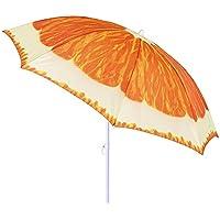 Sombrilla de playa de fruta de acero naranja de 180 cm Garden - Lola Home