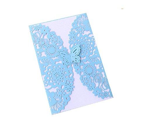 Cdet 50x Blank Kartenhalter Hochzeit EinladungsKarten Glückwunsch Einladung Karten,Elegante Blume Spitze Partyeinladungen für Hochzeit Geburtstag Verlobung Party (Style-5) (Eleganter 50 Geburtstag Einladungen)
