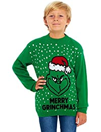 Girls Red Light Up Sequin This Girls Loves Christmas Soft Knit Novelty Xmas Jumper.Age:8-14