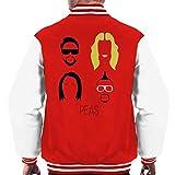 Photo de Black Eyed Peas Music Icon Silhouette Men's Varsity Jacket par Cloud City 7