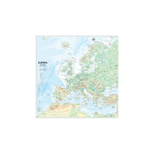 Carta geografica europa fisico/politica