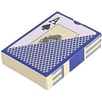 Delicacydex Naipe Resistente al Agua de PVC Duradera Naipes de plástico Novelty Poker Card Pokerstar Juego de Mesa para Texas Juego