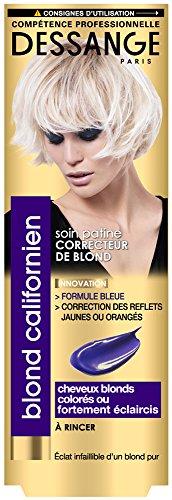 3. Dessange - Blond Californien Soin Patine Correcteur De Blond Pour Cheveux Blonds, Colorés Ou Fortement Eclaircis - 125 ml - Lot de 3