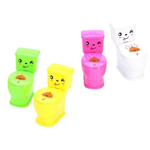 MagiDeal Zufällige 1pc Knifflige Sprühwasser Closes Spielzeug Weiß Streich Kinder Toilette Spielzeug