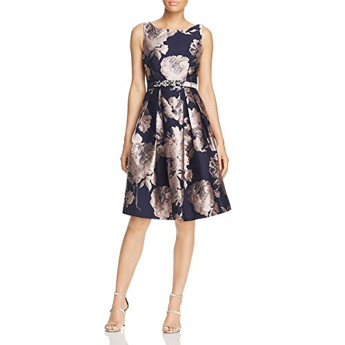 Eliza J Womens Floral Pleated Special Occasion Dress