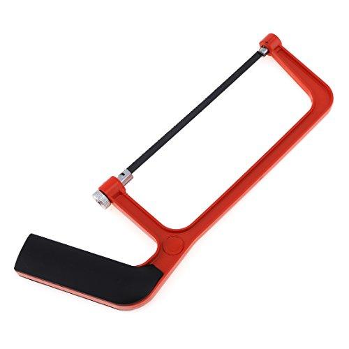 SNOWINSPRING 6 pouces Scie a metaux a tube rond reglable avec cadre en alliage d'aluminium et poignee confortable pour couper du bois Scie a fibre de metal