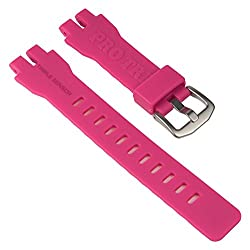 Casio Replacement Band Watch Band Resin Strap Pink For Prw-3000 Prw-3000t Prw-6000 Prw-6000y 10470458