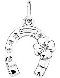 Amor Damen-Anhänger Hufeisen Kleeblatt Glücksbringer 925 Sterling Silber rhodiniert 17 mm - 337984