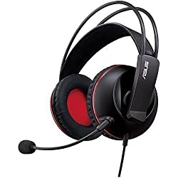 ASUS CERBERUS Gaming headset, with large 60mm neodymium drivers, designed for both PC gaming and mobile use.