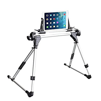 SelfTek Adjustable Tablet Mount Holder Bed Sofa Desk Floor Stand Foldable Lazy Man Holder for IPad 1 2 3 4 5 Air Mini IPhone