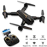 GPS Return Home Quadcopter, FPV RC Drone with Camera Live Video, Adjustable Wide