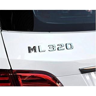 E813 ML 320 Emblem Badge auto aufkleber Schriftzug hinten Abzeichen car Sticker Abziehbild Chrom ML 230