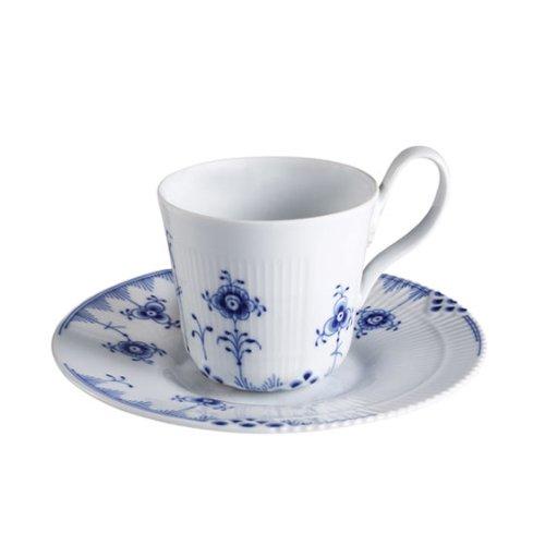 Royal Copenhagen Blue Elements Ober- Und Untertasse, 25 Cl Blue Flora Cup