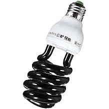 MagiDeal E27 220V Ahorro de Energía Luz de Tubo Ultravioleta Etapa Sprial Lámpara Bombilla Negra - Negro 20W
