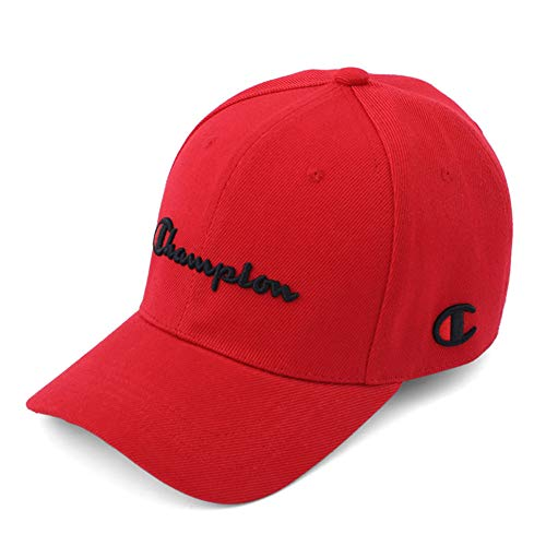 MAOZIm Hat Male Spring and Autumn Baseball Cap Female Casual Wild Korean Cap Couple Travel Hat, Red