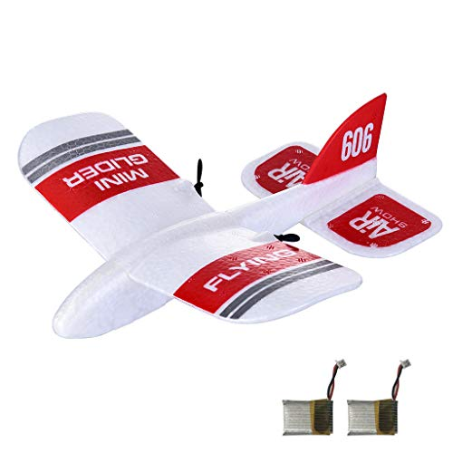 TwoCC-Drohne, Doppelversion Kfplan Kf606 Epp 2.4G 2Ch Mini Starrflügel Starrflügelflugzeug mit Gyroskop