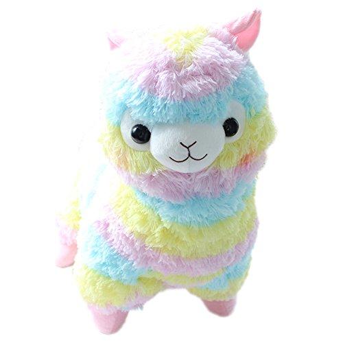 Regenbogen Alpaka-Lama-Plüsch Spielzeug Highdas Geburtstagsgeschenke Weihnachtsgeschenke Spielzeug