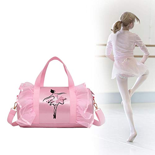 Househome girls personalizzata per danza, per bambini ballet bag, borsa a tracolla per danza, latin dance sport kit bag, borsa da palestra da ginnastica rosa