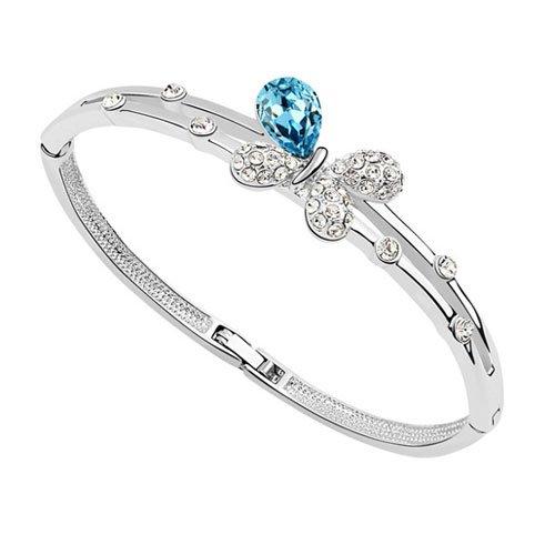 rarelove-swarovski-elements-aquamarine-crystal-18k-gold-plated-butterfly-bangle-bracelet