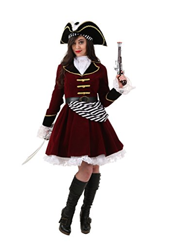 Plus Size Women's Captain Hook Fancy dress costume with Hat 3X