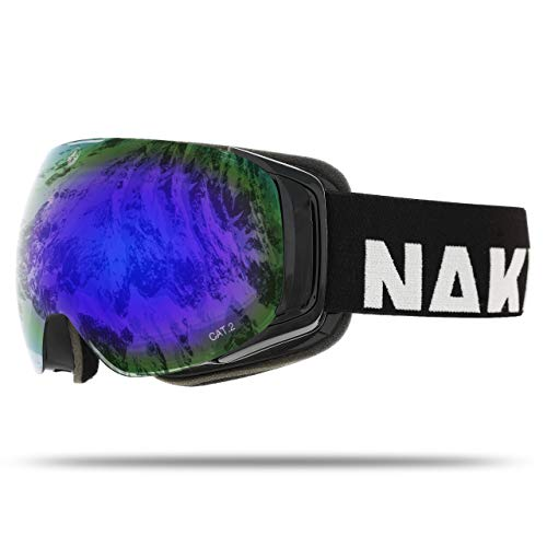 NAKED Optics Force EVO Black (Blue Lens), inkl. Schlechtwetterglas -