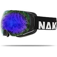 NAKED Optics Skibrille Snowboard Brille für Damen und Herren - Verspiegelt mit Magnet-Wechselsystem – Ski Goggles for Men and Women
