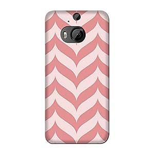 Abhivyakti Pattern Pink ZigZag Hard Back Case Cover For HTC M9 Plus
