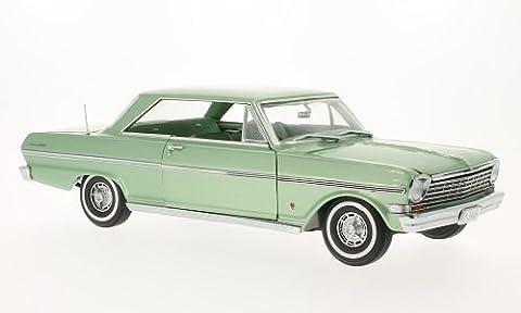 Chevrolet Nova, met. light green, 1963, Model Car, Ready-made, Sun star 1:18 by Chevrolet
