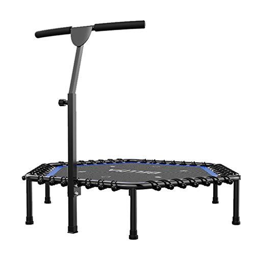 Jumping Fitness Trampolin mit Haltegriff und leise Gummiseilfederung Sprung für Kinder & Erwachsene in Zuhause Indoor Outdoor, Unterstützung bis zu 220 kg