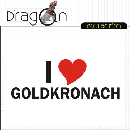 T-Shirt mit Städtenamen - i Love Goldkronach - Herren - unisex Weiß