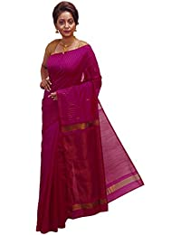 Avik Creations Silk Cotton Saree With Blouse Piece (H950-13_Pink_Free Size)
