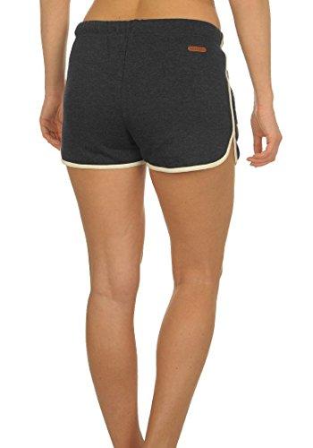 DESIRES LikiShorts Damen Sweat-Shorts kurze Hose Sporthose aus hochwertiger Baumwollmischung Dark Grey Melange
