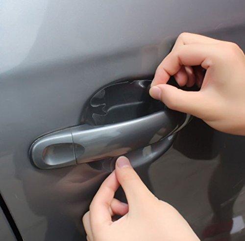 4x Stück Lackschutzfolie gegen Kratzer für Auto-Türgriffe Griffschalen Griffmulden und Türgriffmulden Aufkleber Sticker transparent - für jedes Fahrzeug passend INION® (Mitsubishi Auto Aufkleber)