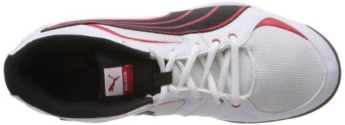 Puma Ballesta 102824 Unisex-Erwachsene Hallenschuhe Weiß (white-black-high risk red 04)