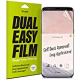 Ringke Dual Easy Full Coverage Screen Protector for Galaxy S8 High Resolution [Anti-Smudge Coating] Easy Application Case Friendly Screen Protector for Samsung Galaxy S8 (2017) [2-Pack]