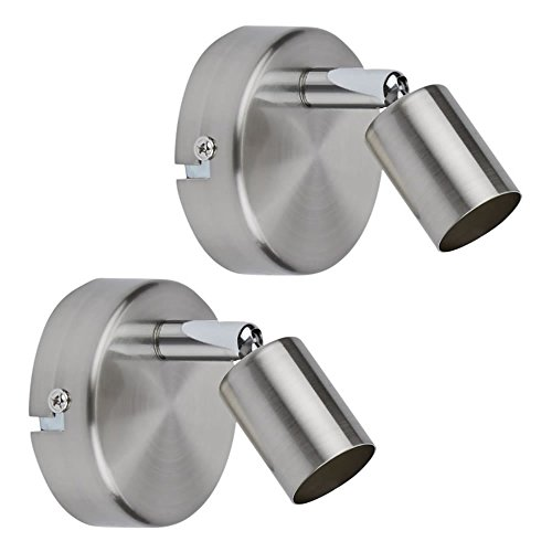 Biard 'Boston' Pack de 2 Porta Bombilla Orientable de Interior para Focos...