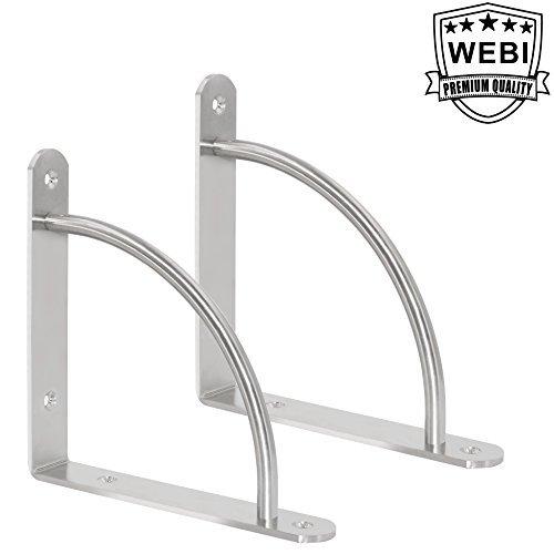 Webi acero inoxidable Corner Tirantes, forma de L ángulo recto soportes, conjunta cierre, soporte para estantería