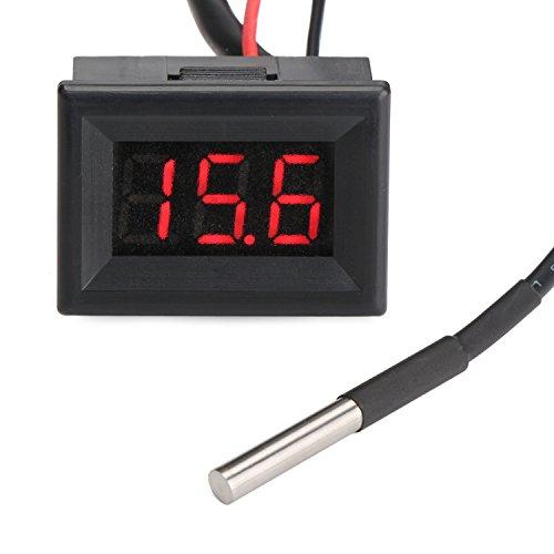 Droking Digital-Thermometer Elektronischer Temperatur-Monitor mit langem Sonden-Sensor Tragbares helles Taschen-Temperatur-Test-Maß-Meter-Messgerät-Gerät für Kühlraum/Pool/Baby-Bad Wasser/Auto -