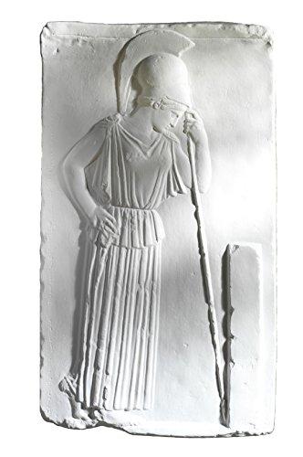 Relief Athene, 53 cm weißer Alabastermodellgips