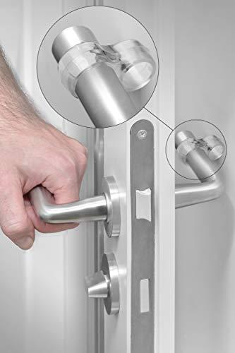 LouMaxx Türklinkenpuffer - 6er Set Transparente Doppel Türstopper Klinke – Türgriff Puffer - Türgriff Stopper - Türgriff Schutz – leicht und schnell montiert zum Schutz von Wand und Möbeln
