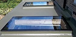 Toughened Glass Systems Skylight Flat Roof 800mm x 1800mm Double Glazed Rooflight