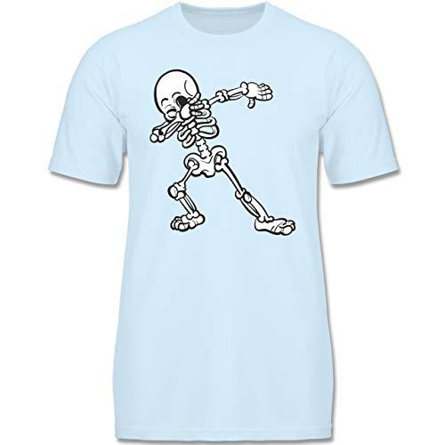 Anlässe Kinder - Dabbing Skelett - 152-164 (12-14 Jahre) - Babyblau - F140K - Jungen T-Shirt