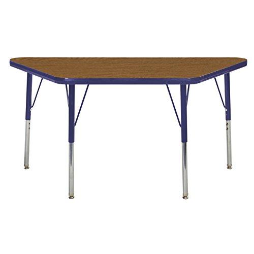 ECR4Kids elr-14826-oknv-ss Mesa t-mould 61x 121,9cm Trapez Aktivität Schule Tisch, Standard Beine W/Drehstuhl gleitet, höhenverstellbar 48,3cm-30 (Tabelle Trapez-aktivität)