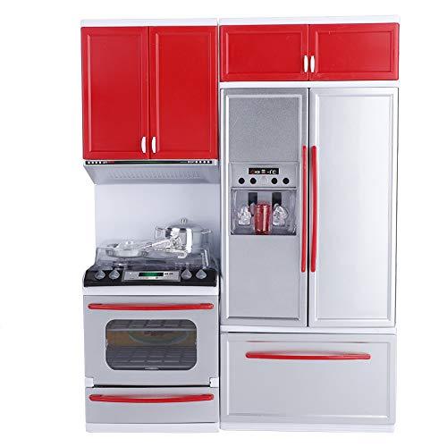 Hakeeta Modern Plastic Plastic Play Kitchen, Mini Kitchen Pretend Role Play Toy,...