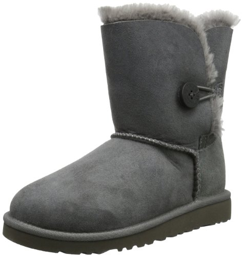 UGG 5991 Kid's Bailey Button, Unisex - Kinder Stiefel, Grau (grey grey), EU 36, (US k06) (Uggs Kinder Stiefel)