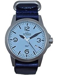 LIV MORRIS LIV MORRIS 1967 VALBERT No. 1 0732066353737 - Reloj para hombres, correa de nailon color azul