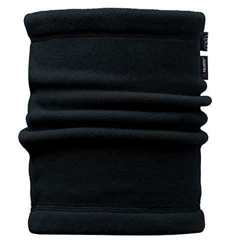 Buff Kinder Multifunktionstuch Junior Neckwarmer Polar Solid Black, One Size (Polar-fleece-mütze Kinder)